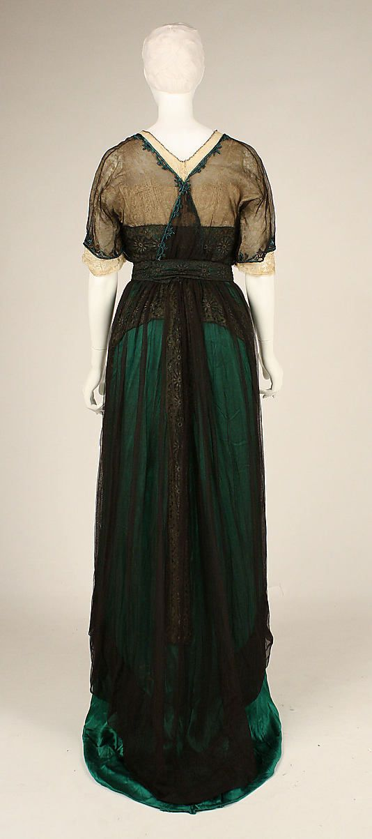 dress date ca 1909 culture american medium silk