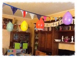 Addobbi festa di compleanno riciclosi