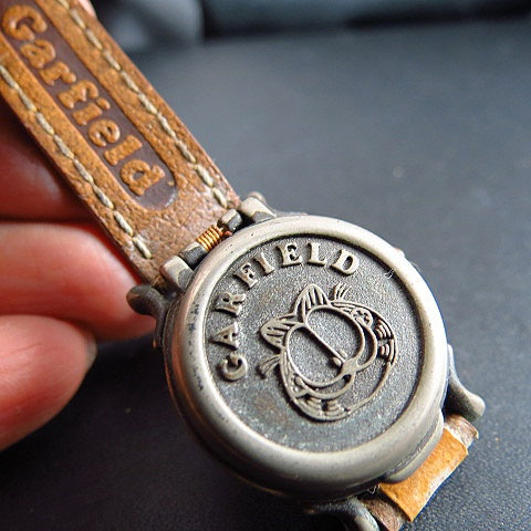 VINTAGE GARFIELD CAT SPECIAL TOP COVER OLD STYLE QUARTZ LADY WATCH | eBay