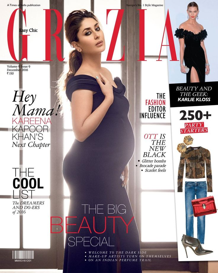#bollywood @GraziaIndia features the gorgeous diva and mommy-to-be #KareenaKapoorKhan. She looks spell bounding!