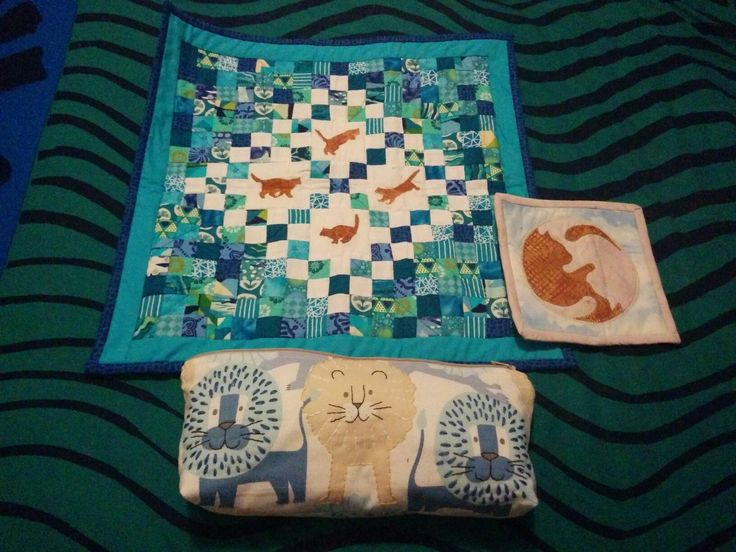"""A teeny mini quilt, 1"""" squares"""
