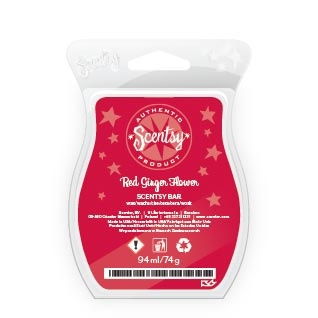 https://wicklesskaren.scentsy.co.uk  Red Ginger Flower Scentsy Bar, another European exclusive £5. |The fragrance of lush Far East garden: fresh-cut pineapple, succulent frangipani, and red goji berries with just a touch of full-bodied sandalwood.