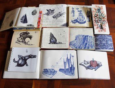 EUGENE HŐN : CERAMIC ARTIST: Ballpoint pen drawing technique; a suitable pen and paper.