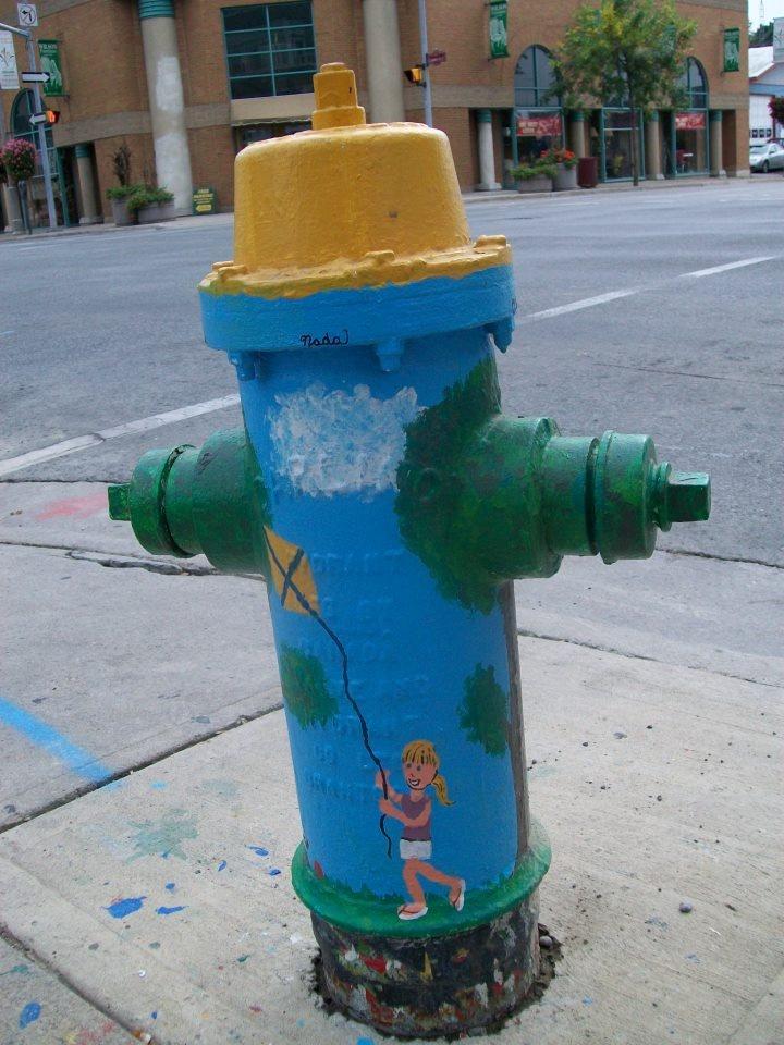 Blue Kite Hydrant