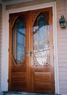 use double storm doors for screen off the living room? Silver Lake style 127 double storm doors