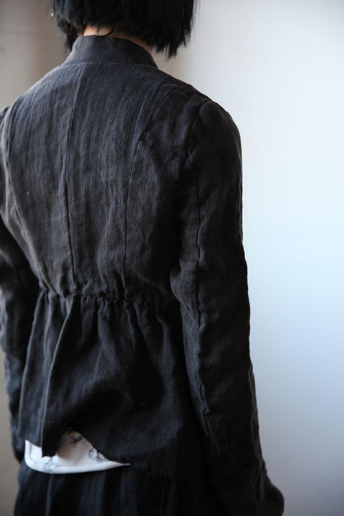 Sylvia Washed Linen Short Jacket | Ovate