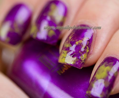 Marbling purple and green