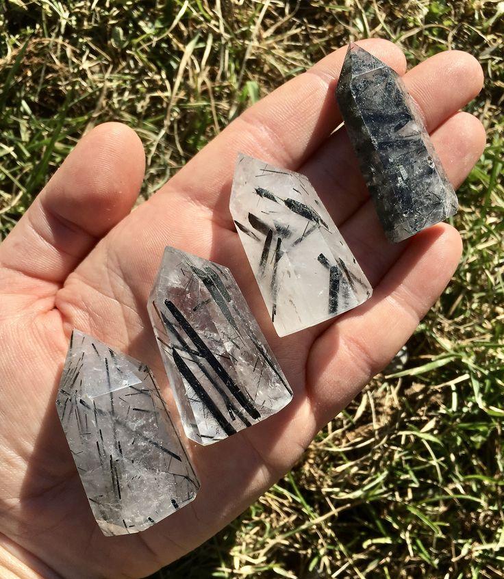 Tourmalinated Quartz Crystal Points