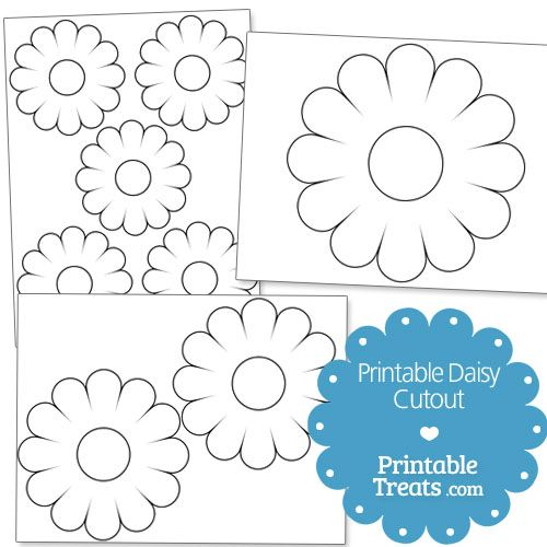Printable Daisy Cut Out from PrintableTreats.com