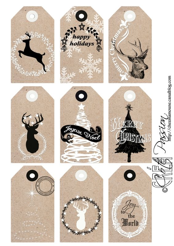 ☆...☆...☆... ........................... Côté Passion Christmas tags 2015