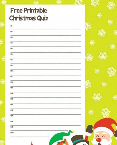 photograph about Christmas Trivia Game Printable identified as Xmas Trivia Recreation: Xmas Quiz Thoughts And Methods