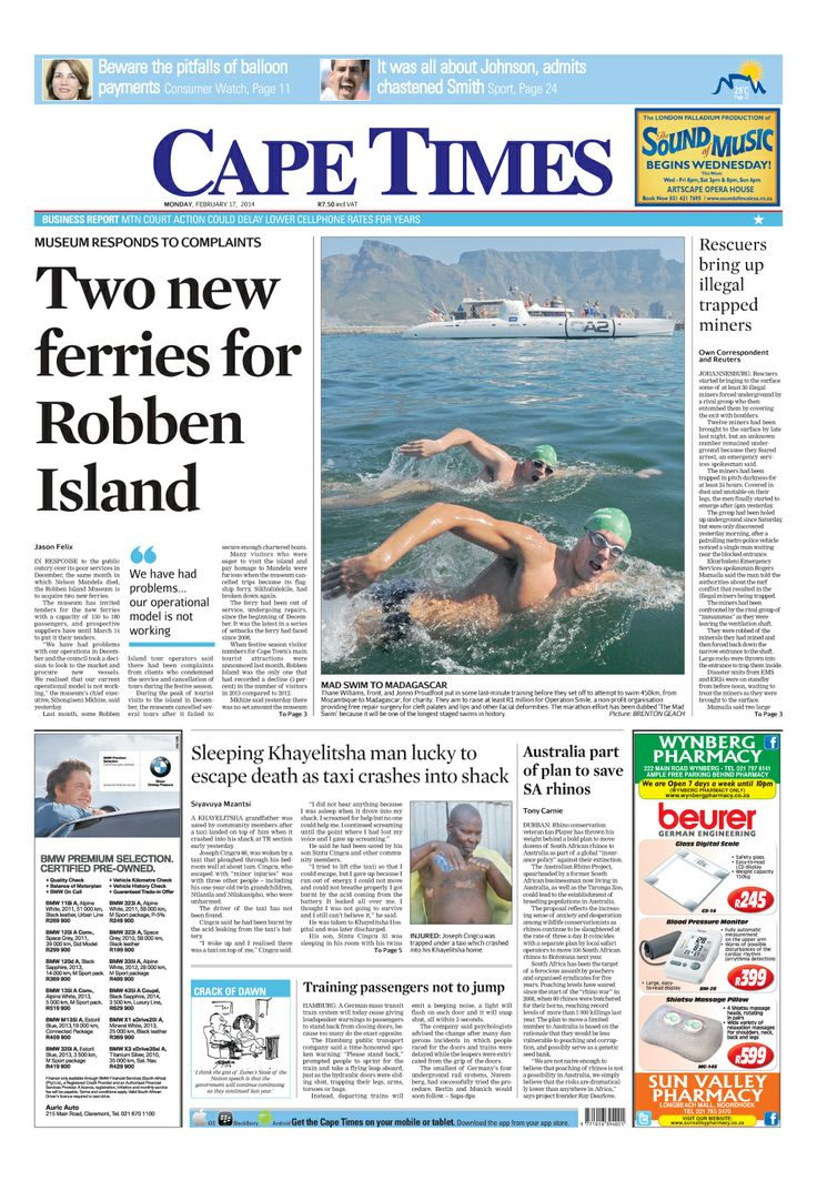 News making headlines: Two new ferries for Robben Island