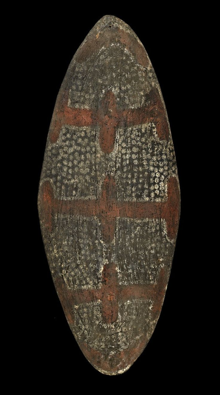 Australia | Shield | Wood with Pigments | Before 1862