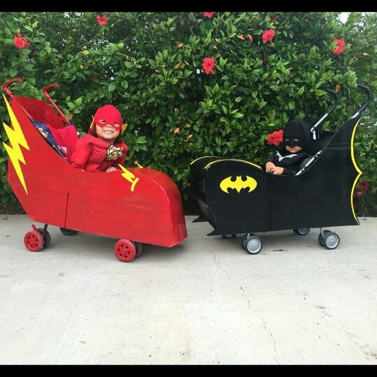 Batmobile made out of stroller