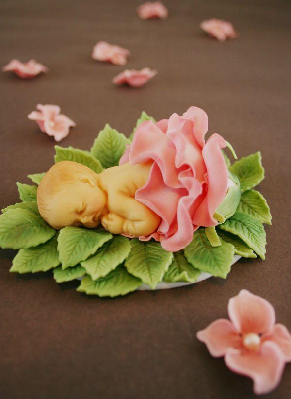 Painted By Cakes - Kakkuja tilauksesta: BABY CAKE TOPPER