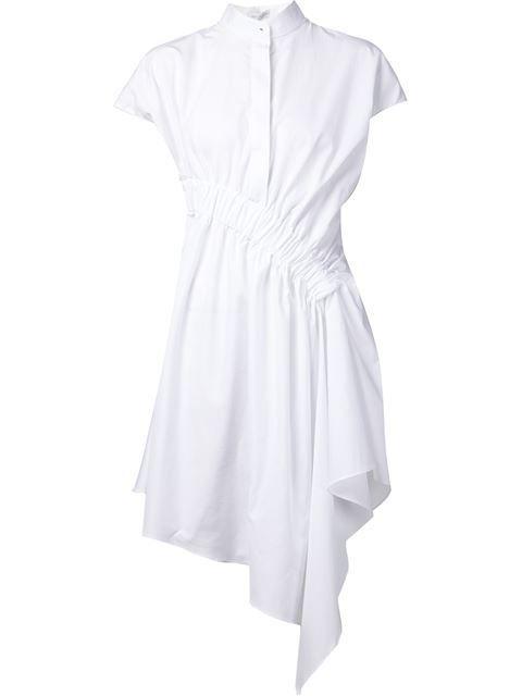 Viktor & Rolf асимметричное платье-рубашка с драпировкой