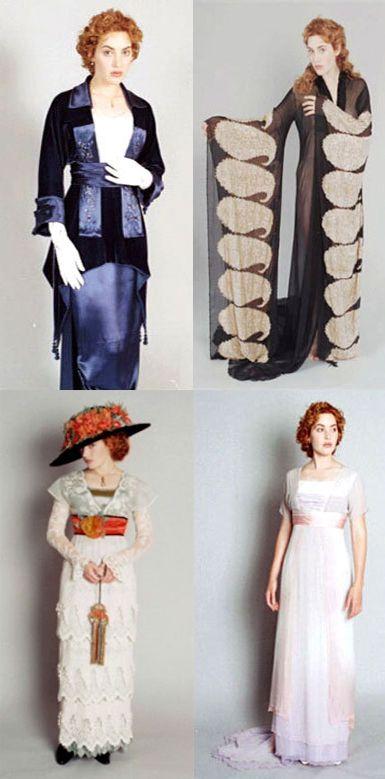 Costume camera tests for Rose in the movie 'Titanic' (1997). Costume Designer: Deborah L. Scott.
