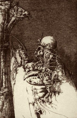 Une saison en enfer II (1981) Plancha 16 x 24 Cm. Papel 33,3 x 50 Cm.