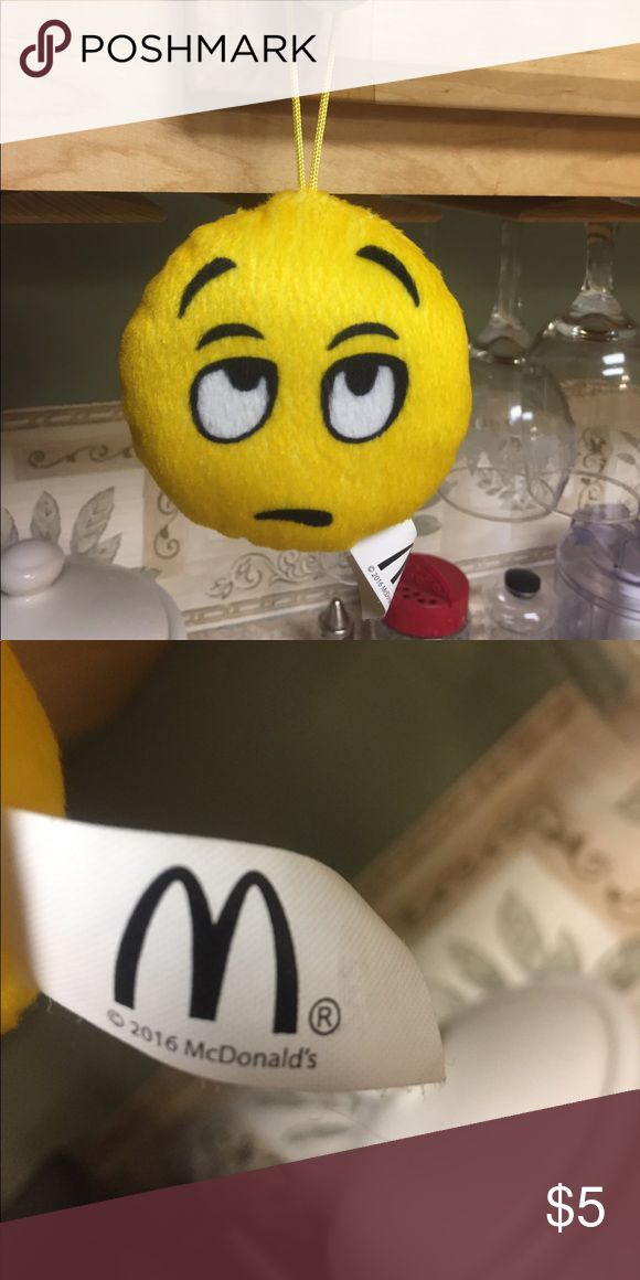 McDonalds Emoji Whatever emoji !!! Four inch circular stuffed emoji made for McDonald's in 2016 for promotion purposes mcDonalds Other