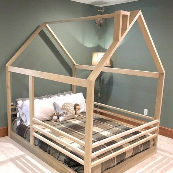 Full Size House Bed Frame Slats Chimney Railing Made In Etsy