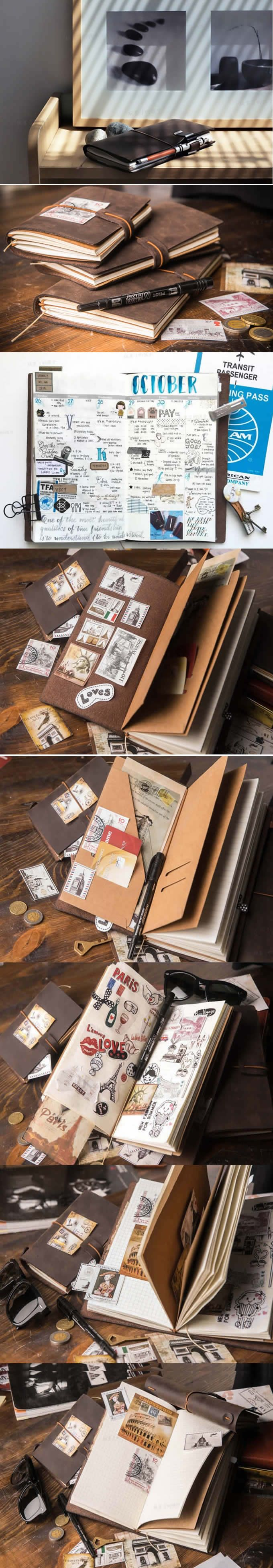 Handmade Classic Genuine Leather Traveler's Notebook