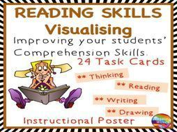 Reading Activity Comprehension Skills Visualisation Poster and Task Cards by mareehenderson21 - Teaching Resources - TES