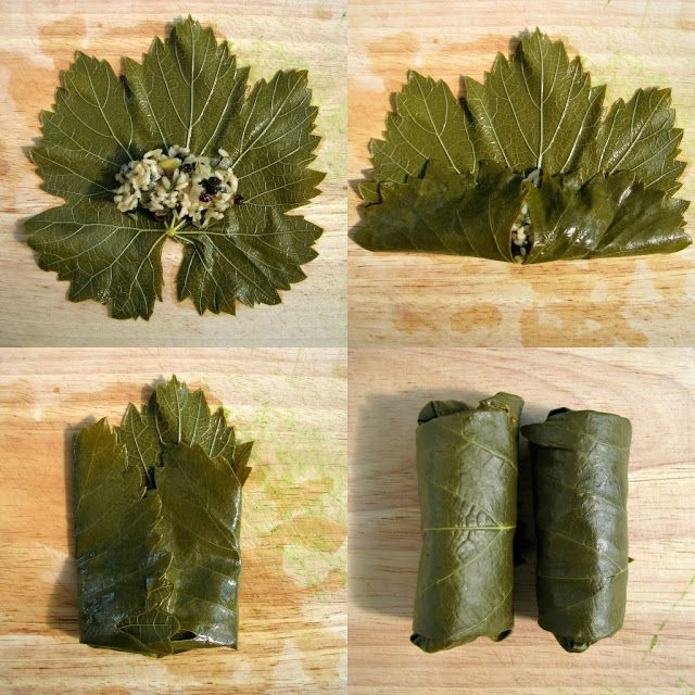 veggie dolmades (stuffed grape leaves), perfect holiday appetizer