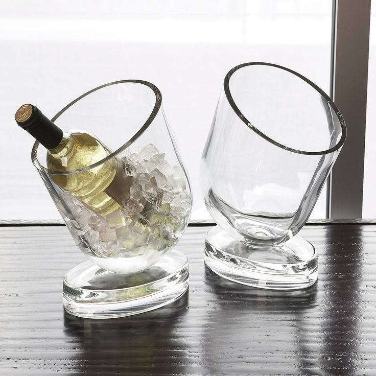 Global Views Wine Chiller Slanted Design from @Zinc_Door: Views Wine, Wine Chiller, Chiller Slanted, Global Views, Slanted Design, Winechiller, Dwellstudio Wine, Slanted Wine