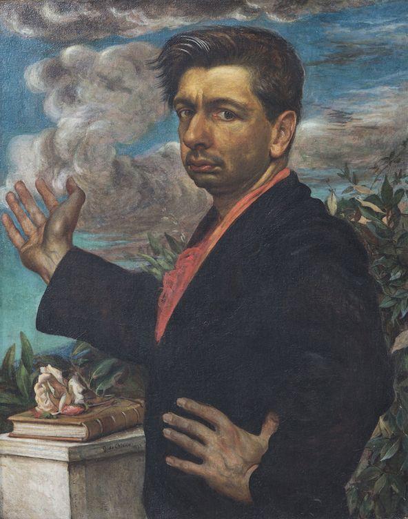 Giorgio de Chirico, Autoritratto con rosa, 1923 - collezione privata