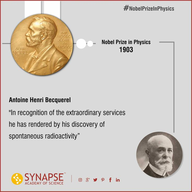 #NobelPrizeInPhysics Antoine Henri Becquerel  In recognition of the extraordinary services he has rendered by his discovery of spontaneous radioactivity. #Synapseeducare #Academyofscience