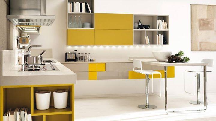 Iniziamo la giornata con un tocco di #colore in cucina, protagonisti oggi nuovi e interessanti abbinamenti. #Lube #design #arredamento #CucineLubeTorino #Cucine #Lube