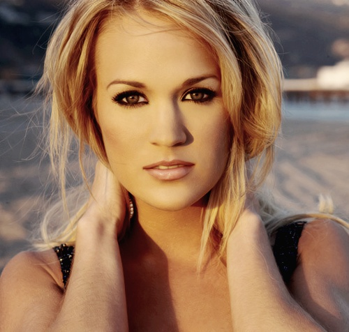 Carrie Underwood, a real beauty.