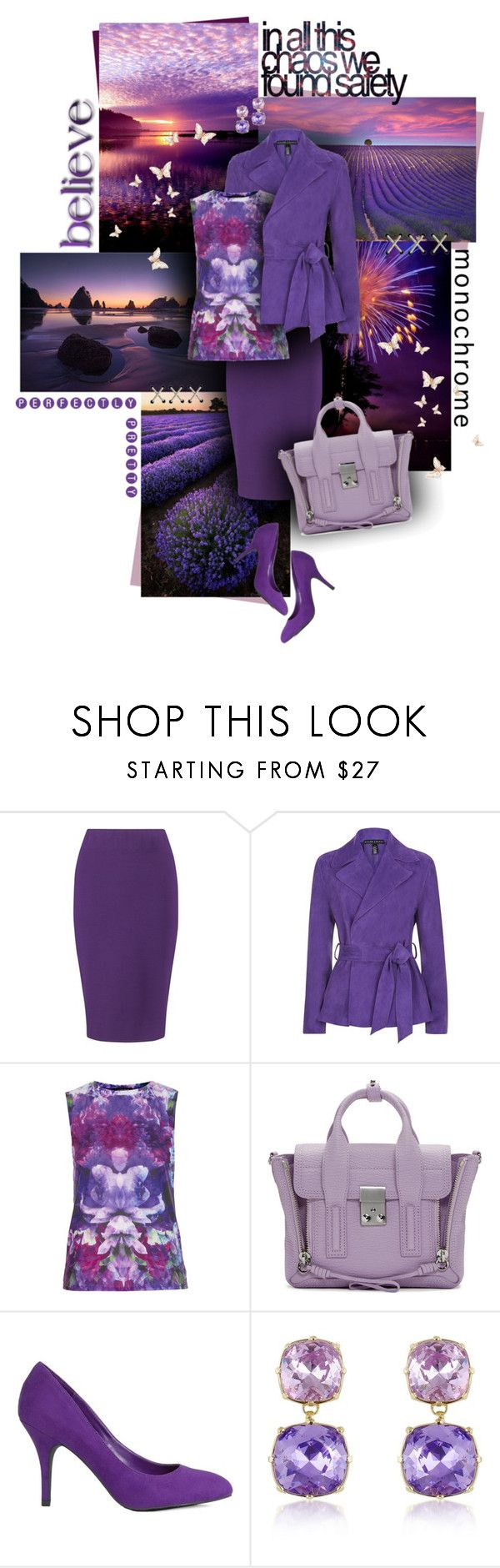 """Sunset & Lavender Fields"" by sagramora ❤ liked on Polyvore featuring Winser London, Ralph Lauren Black Label, Workshop, 3.1 Phillip Lim, JustFab and AZ Collection"