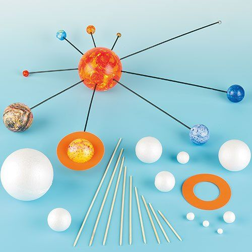 Make Your Own Solar System Kits with Various Sizes Polystyrene Balls, Foam Pieces &Wooden Sticks for Kids Science Projects(Pack of 2 kits) Baker Ross http://www.amazon.co.uk/dp/B00702SBY8/ref=cm_sw_r_pi_dp_XVHPvb1E5BY61