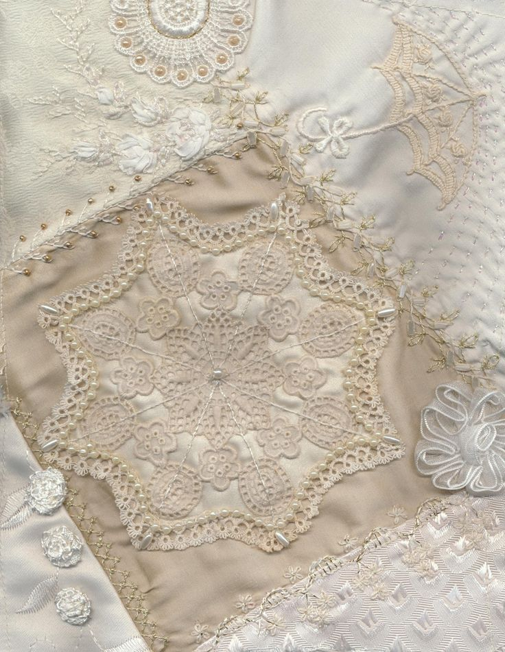 """The most popular pin (204) on my """"Lace Quilt"""" board.      Quilts made of lace 