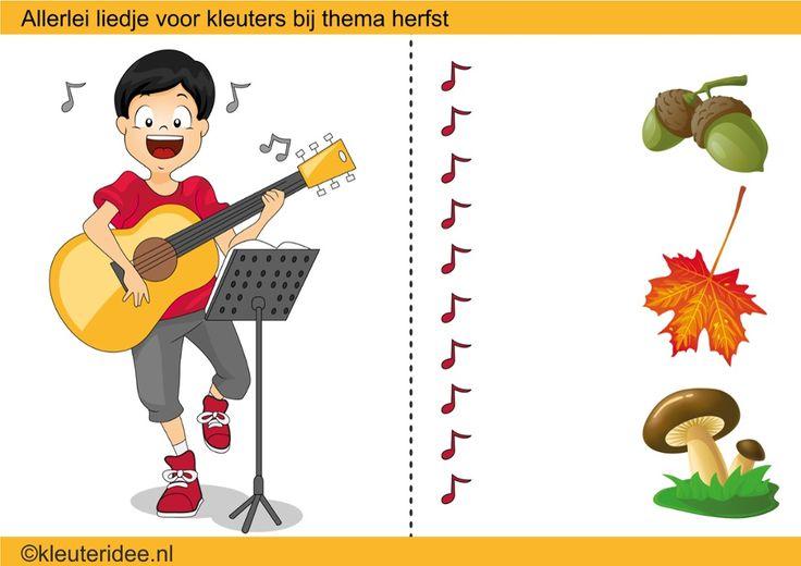 Interactieve liedlijst met heel veel liedjes over de herfst voor kleuters, by juf Petra van kleuteridee