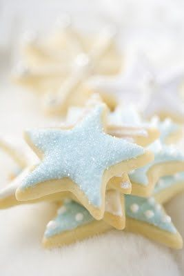 Cookie inspiration for a party. Shower with a seaside/beach theme or a Night Under the Stars.