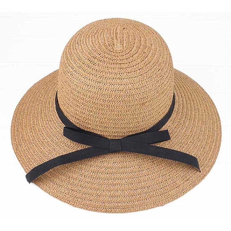 Tonsee Fashion Women Summer Straw Sun Hat Beach Hat (Coffee) at Amazon Women's Clothing store: