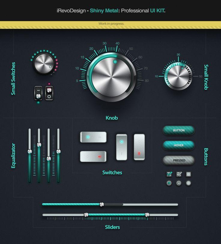 Shiny Metal UI Kit