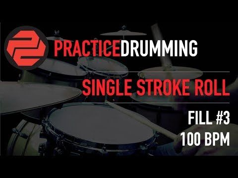 Single Stroke Roll | Fill 3 | 100 BPM - Free Drum Lessons