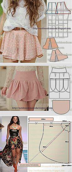 Falda del verano.  Patrones | hábiles manos