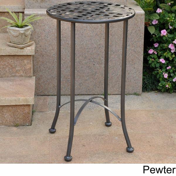 International Caravan 16-inch Outdoor Side Table - Overstock™ Shopping - Big Discounts on International Caravan Coffee & Side Tables