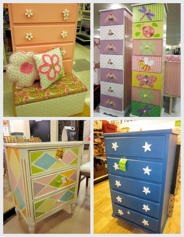 Cute Ideas For Painting/decorating Dressers!