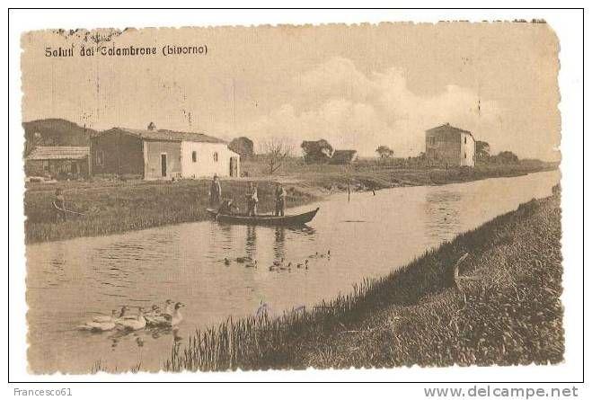 TOSCANA CALAMBRONE LIVORNO 1915 VIAGGIATA