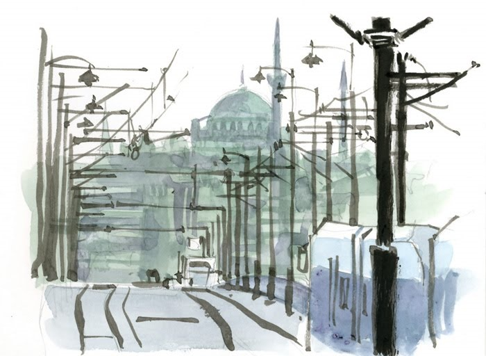 Tram across the Bosphorus