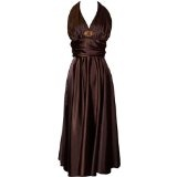 Marilyn Satin Halter Bridesmaid Dress Junior Plus Size Holiday Prom Gown (Apparel)By PacificPlex