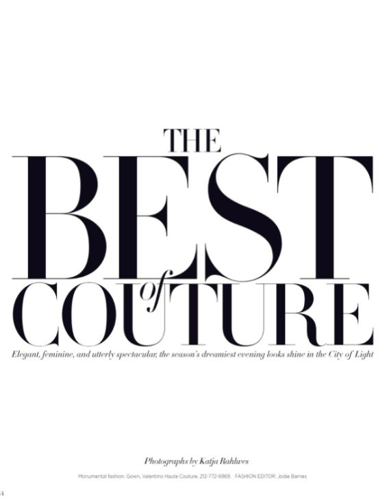The Best of Couture by Katja Rahlwes for Harper's Bazaar 2013_ #typography #layout #design