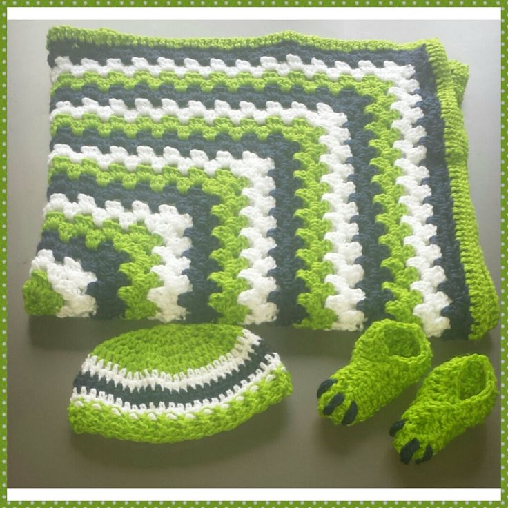 Little Monster Baby Boy Blanket Beanie and by CrochetbySparkle, $100.00