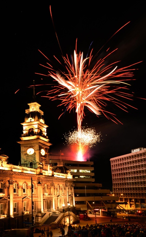 Dunedin Midwinter Carnival ends with a bang. Photo by Stephen Jaquiery.