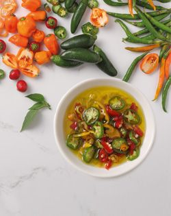 CHILLI OIL - Keep a bottle on hand to add a little spice to pizza, pasta, steak or salad.